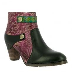 Laura Vita Carole Black Leather Ankle Boots