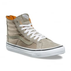 Vans Beige Boom Boom SK8-Hi Slim Zip Hi Sneakers