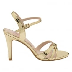 Dolcis Ladies Gold Belinda Stiletto Heeled Open Toe Sandals