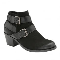 Dolcis Ladies Quincy Black Ankle Boots