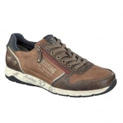 Mustang Mens Chestnut Side-Zip Trainer Shoes