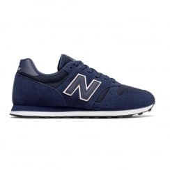 New Balance Classic WL373 Womens Blue Suede Running Sneakers