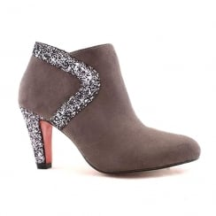Kate Appleby Yate Grey Suede Glitter Ankle Boots