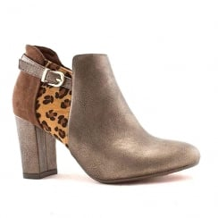 Kate Appleby Chard Bronze Safari Leopard Print Ankle Boots