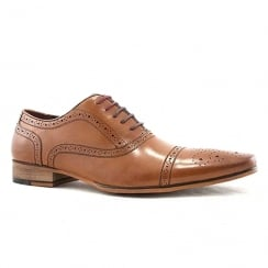 Escape Mens Bostonic Brogue Brandy Leather Shoes