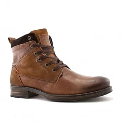 Escape Mens Besto Brandy Leather Ankle Boots