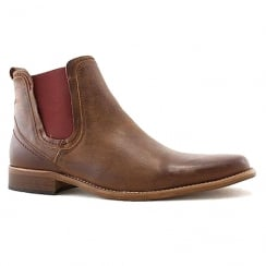 Escape Mens Austin Oak Leather Chelsea Boots
