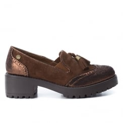 Carmela Tan Suede Tassel Brogue Shoes