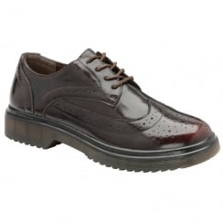 Dolcis Ladies Ingrid Burgundy Chunky Lace Up Brogues
