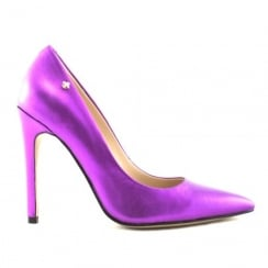 Amy Huberman Palm Beach Purple Leather Heels