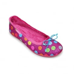 Lunar Womens Mix-Up Knit Pink Slipper Pumps