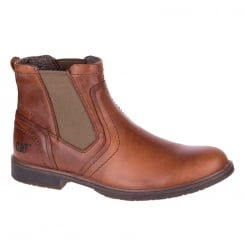 CAT Mens Armitage Brown Leather Chelsea Boot