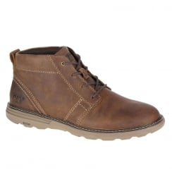 CAT Mens Trey Brown Leather Ankle Lace Up Desert Boot