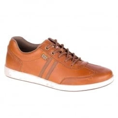 CAT Mens Syntax Tan Leather Sneaker