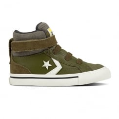 Converse Infant Pro Blaze Strap Stretch Hi Top Shoe - Olive
