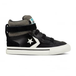 Converse Infant Pro Blaze Strap Stretch Hi Top Shoe - Black
