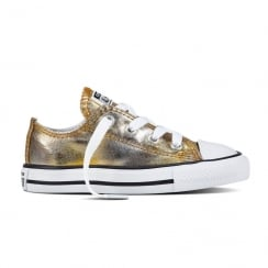 Converse Infant All Star Metallic Toddler Low Top Sneakers - Gold