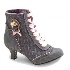 Joe Browns Ambrose Tweedy Vintage Grey Heeled Shoe Boots