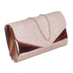 Glamour Gold Glitter Clutch Bag
