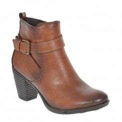 Susst Ellen Tan Ankle Block Heel Boot