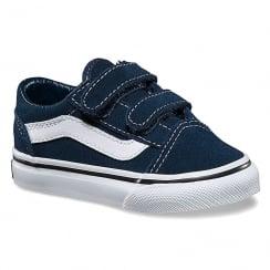 Vans Old Skool V Dress Blues Toddler Skate Shoes