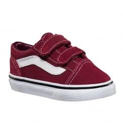Vans Toddler Suede Old Skool Velcro Shoes