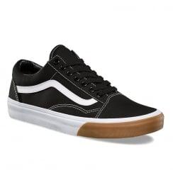 Vans Unisex Black Gum Bumper Old Skool Skate Shoes