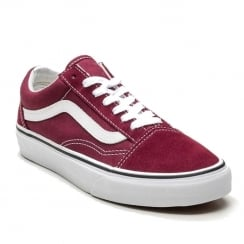 Vans Unisex Burgundy Suede Old Skool Sneakers