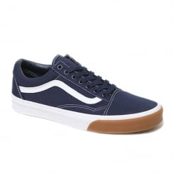 Vans Unisex Navy Blue Gum Bumper Old Skool Shoes