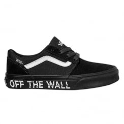 Vans Boys Black Chapman Off The Wall Platform Shoes