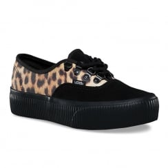 Vans Womens Leopard Embossed Authentic Platform 2.0 Shoes