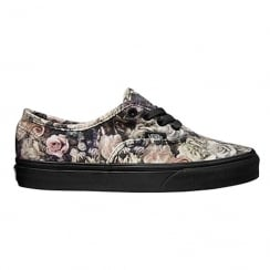 Vans Womens Authentic Velvet Floral Shoes