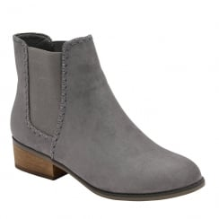 Dolcis Womens Pasha Grey Suede Chelsea Boots