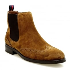 Alpe Tan Suede Chelsea Ankle Boot
