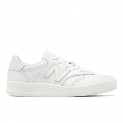 New Balance Womens 300 White Leather Classics Sneakers