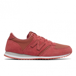 New Balance Womens 420 Coral Mesh Suede Sneakers