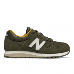 New Balance Junior 520 Khaki/Yellow Suede Sneakers