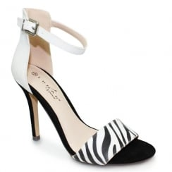 Lunar Corby Zebra Ankle Strap Heeled Sandals