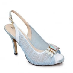 Lunar Amalfi Blue Peeptoe Sling Back Heel