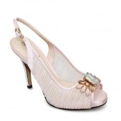 Lunar Amalfi Pink Peeptoe Sling Back Heel