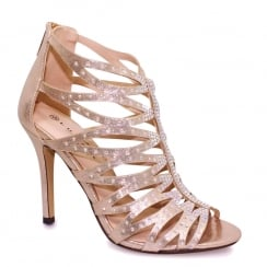 Lunar Dorado Rose Strap Stiletto Heel Sandals