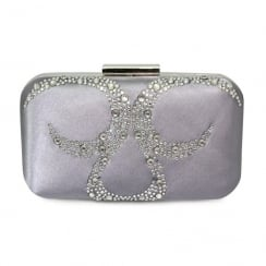 Lunar Arkle ZLR403 Pewter Clutch Bag