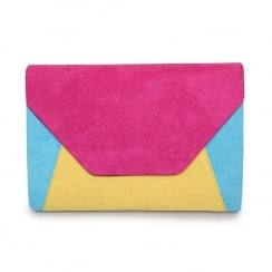Lunar Corby ZLR411 Multicolour Envelope Clutch Bag