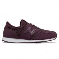 New Balance 420 Womens Wine Suede Sneakers