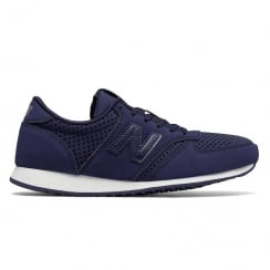 New Balance 420 Womens Navy Suede Sneakers