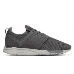 New Balance Men's Sport Style 247 Grey Mesh Sneakers