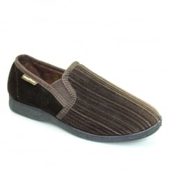 Lunar Goodyear Mens Calder Brown Slipper KMG101