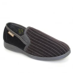 Lunar Goodyear Mens Calder Black Slipper KMG101