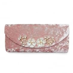 Lunar Ginny ZLR479 Pink Crushed Velvet Bag