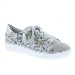 Remonte Ladies Casual Silver Sneaker Shoes